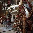 【ゾロ目クーポン】クリスマスツリー 北欧 スリムツリー210cm 飾り