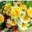 父の日 プレゼント  花 誕生日 おまかせ アレンジフラワー イエロー、オレンジ 条件付き送料無料 父の日 プレゼント