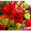 父の日 プレゼント  花 誕生日 おまかせアレンジフラワー レッド プレゼントなどに 条件付き送料無料 父の日 プレゼント