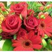 父の日 プレゼント  花束 プレゼント 誕生日 おまかせ赤系花束 父の日 プレゼント  父の日 プレゼント
