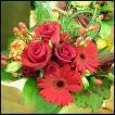 おまかせ赤系 花束 お祝い 開店祝い プレゼント