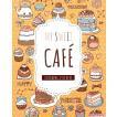 韓国語のぬりえステッカー MY SWEET CAFE マイスウィートカフェ ステッカーブック(大人の塗り絵)
