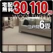 カーペット 6畳 防炎 防ダニ ウールカーペット 江戸間 六畳 絨毯 おしゃれ 安い 長方形 ウールツイード