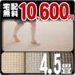 カーペット 4.5畳 防ダニカーペット 江戸間 四畳半 絨毯 おしゃれ 安い 正方形 プラム