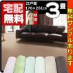 カーペット 3畳  防音 防ダニ 床暖対応 長方形 厚手 絨毯 江戸間 三畳 おしゃれ 安い サウンドグロス