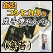 炭手焼せんべい 海苔 新潟 コシヒカリ 煎餅 米 お取り寄せ ギフト