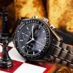 クロノグラフ シャルルホーゲル クロノグラフ ブラック メンズ腕時計 CharlesVogeleギフト 男性用 クロノグラフ