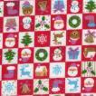 ふんわりマシュマロ触感!/ダブルガーゼプリント/クリスマス1 レッド系 3色 1m単位 アウトレット ポイント