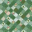 ふんわりマシュマロ触感!/ダブルガーゼプリント/クリスマス2 グリーン系 3色 1m単位 アウトレット ポイント