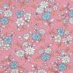 ダブルガーゼプリント/キラキラ フラワー2 ピンク系 4色 1m単位 アウトレット ポイント