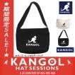 [カンゴール] ショルダーバッグ KANGOLロゴもこもこサガラ刺繍 コットンキャンバス