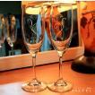 猫柄スパークリングワイングラス・ハート(ペア)WG-15 / ねこ雑貨 ネコグッズ 猫グラス 【送料無料】【ギフト包装無料】
