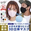 3D立体マスク 曇らない マスク 洗える 息がしやすい 小顔効果 おしゃれ 大人用 子供用 小さめ 大きめ 立体的 PAA-89M_2p