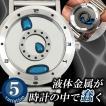 LMW 液体金属 腕時計 LM watch エルエムウォッチ SF おもしろ 水銀不使用 防水 アナログクォーツ 未来的 動く 針  ジェル ユニーク 送料無料