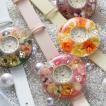 レディースウォッチ 本物のお花が埋め込まれた腕時計 腕時計 レディース かわいい おしゃれ フラワーウォッチ ベゼル11種類とベルトは15種類から選べる 送料無料
