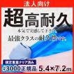 ブルーシート 厚手 防水 青色 規格#3000 サイズ 5.4m×7.2m 正規品 1枚 法人様限定