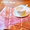 スタジオヒッラ ランチョンマット(ラミネート)  【STUDIO HILLA】 テーブルクロス 食卓 食器 ランチマット シート