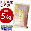 玄米 特別栽培米 5kg 山形県産つや姫 平成28年産 農薬・化学肥料5割減