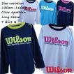 Wilson(ウイルソン) Tシャツ キッズ ジュニア 男の子 女の子 長袖 ロンT メッシュ 吸汗速乾 【メール便発送対応】fo-wx5714【SALE】