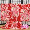 お宮参り 女の子/祝い着  のしめ レンタル 初着 産着 赤ちゃん きもの ブランド/SEIKO MATSUDA(ポリエステル  赤 0-112MR