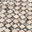 [シールタイプ】ガラス・大理石モザイクタイルSTR-5042S◆デザイン豊富 9 種類◆ (1シート)300×300×8mm