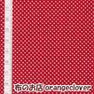 生地 布 コットン LECIEN Color Basic ドット 水玉 1mm レッド