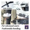 ハンドバッグ  ジュースパック製 フェイクレザー使用 軽量 スマイル
