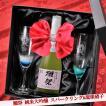 名入れ  結婚記念  琉球  潮騒 シャンパングラス ペアセット 獺祭 だっさい 純米大吟醸 スパークリング45 720ml  ギフトセット
