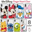 Disney Finger Heart Clear ケース iPhone 11/11Pro/11Pro Max/X/XS/XS Max/XR/8/8Plus/7/7Plus Galaxy S10