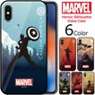 MARVEL Heroic Silhouette Glass バンパー ケース iPhone 11/11Pro/11Pro Max/X/XS/XS Max/XR/SE第2世代/8/7/8Plus/7Plus Galaxy S10