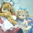 首振り人形(エプロン少女)オルゴール(ぬいぐるみ) プレゼントオルゴール