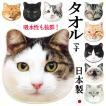 ハンカチ タオル 猫 ハンドタオル ミニタオル リアルモチーフ 猫顔 タオル ネコグッズ かわいい Heming's 猫グッズ 猫雑貨 ねこ雑貨