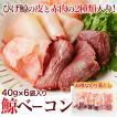 【送料無料】鯨ベーコン切り落とし(40g×6袋)冷凍 ◯