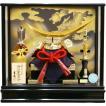 五月人形 吉徳大光作 弦月形前立 伊達政宗兜 アクリルケース飾り 540-901