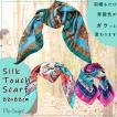 スカーフ  レディース 大判  正方形 88cmx88cm scarf バッグスカーフ リボンスカーフ チェーン ストール 日よけ 首元 風呂敷 送料無料