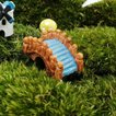 DIY ミニチュア ドールハウス アーチ 小橋 景観 インテリア 樹脂 盆栽 クラフト ガーデン 風景 装飾 小道具 DIY 橋 池 灯篭 井戸 石橋 丸太