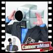 映画泥棒 マスク コスプレ おもしろキャップ 映画 ハロウィン イベント 仮装/ カメラマンマスク (C-0548_267308)