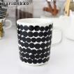 marimekko マグカップ Rasymatto ドット柄 / ブラック × ホワイト