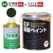EF黒板ペイント ダークグリーン 0.9kg+ペイントうすめ液250ml (油性チョークボードペイント/黒板塗料)