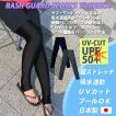 ラッシュトレンカ 日本製 ランニングタイツ ラッシュガードトレンカ UVカット 吸水速乾 スポーツレギンス