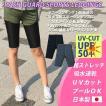 ラッシュレギンス ランニングタイツ 日本製ラッシュガードレギンス UVカット 吸水速乾 スポーツレギンス5分丈