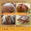国産小麦 天然酵母 全粒粉 100% パン 4点セット