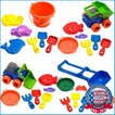 7ピース ビーチ 砂遊びセット 水遊び お砂場遊び アメリカンプラスチックトイズ 02380 (DM便不可)