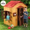 6月1日入荷予約販売/ アウトドア プレイハウス 木製 子供のお家 据置型 組立 大型遊具 キッドクラフト kidkraft 00176