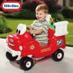 6月1日入荷予約販売/ リトルタイクス スプレー&レスキュー 消防車 ホース&水タンク付き 1歳半から 乗用玩具