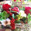 クリスマスプレゼント 花 ギフト Xmas クリスマス 玄関飾り 生花 アレンジメント (クリスマスアレンジメント Mサイズ)