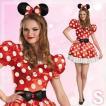 ミニーマウス クラシック 大人用 S(4-6) ハロウィン 仮装 衣装 コスプレ コスチューム 女性用 レディース パーティーグッズ ディズニー 公式