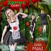 ZOMBIE COLLECTION Zombie Maid(ゾンビメイド) 仮装 グッズ コスプレ 衣装 ハロウィン 大人 コスチューム