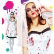 ハロウィン コスプレ 衣装 仮装 コスチューム ウェディングドレス 血のり 女性用 ゾンビ レディース 「スプラッターブライド  Ladies」