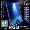 LED パネル RGB 看板 POPスタンド 展示  A1 サイズ 送料無料